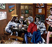 'Elvis & Jesus at the Sports Bar' Photographic Print