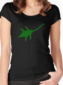 Plesiosaur Dinosaur Women's Fitted Scoop T-Shirt