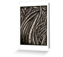 Metal Cables Greeting Card