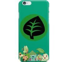 Grass Type Starters iPhone Case/Skin