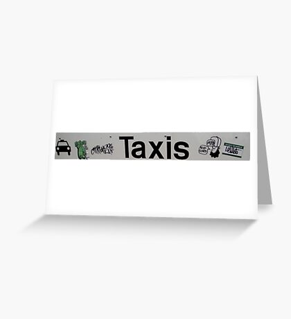 Taxis Greeting Card