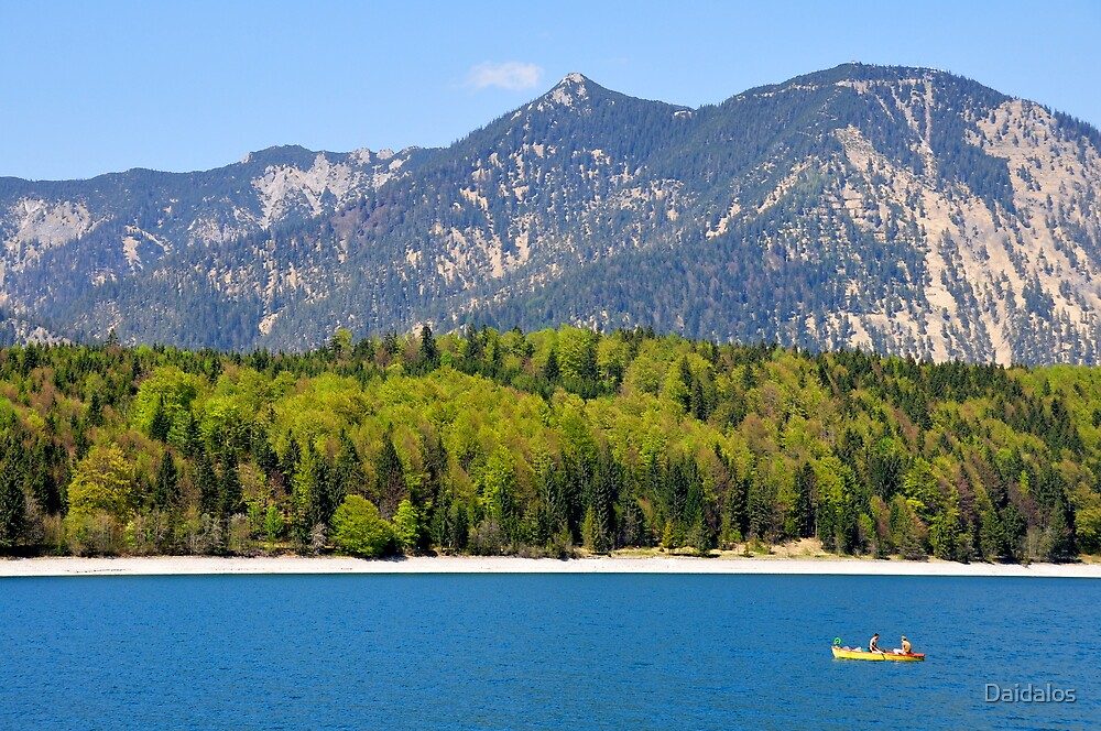the lake and the yellow boat II by Daidalos