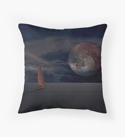 Chasing Down the Moon Throw Pillow