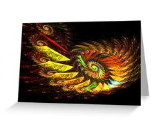 Zcone Colorful Depth Spiral (Pong 8) Greeting Card