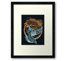The Raven and the Owl Framed Print