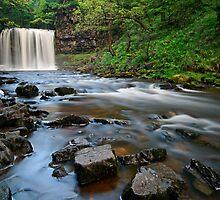 Brecon Beacons Waterfall by Sharif Salah