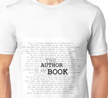 The Author to her Book Unisex T-Shirt