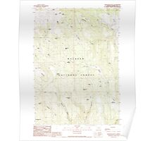 USGS Topo Map Oregon Telephone Butte 281761 1990 24000 Poster