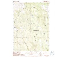 USGS Topo Map Oregon Telephone Butte 281761 1990 24000 Photographic Print
