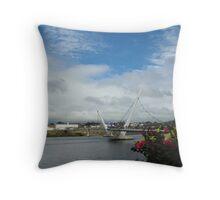 Peace Bridge, Derry Throw Pillow