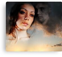 """Stay Beside Me Whisper To Me """"Here I Am"""" And The Loneliness Fades... Canvas Print"""