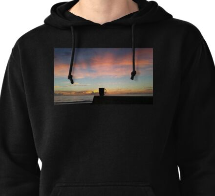 Coffee And A Beautiful Ocean Sunrise Pullover Hoodie