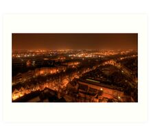 View from Castle Rock by Night Art Print