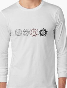 Supernatural Protection (Dark Symbols) Long Sleeve T-Shirt