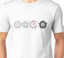 Supernatural Protection (Dark Symbols) Unisex T-Shirt