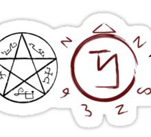 Supernatural Protection (Dark Symbols) Sticker