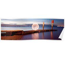 orange orb - pano jetty Poster