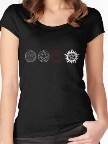 Supernatural Protection (Light Symbols) Women's Fitted Scoop T-Shirt