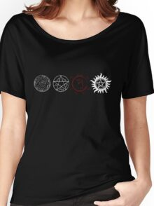 Supernatural Protection (Light Symbols) Women's Relaxed Fit T-Shirt