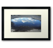 Reflecting Puddle Framed Print