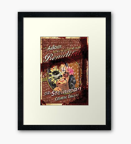 BioShock – Dr. Steinman's Cosmetic Enhancement Defaced Poster Framed Print