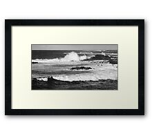 Tidal waves, Easter Island Framed Print