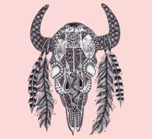 Animal Skull Zentangle  Baby Tee