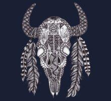 Animal Skull Zentangle  One Piece - Short Sleeve