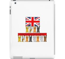 Cats passing out Congratulations. iPad Case/Skin