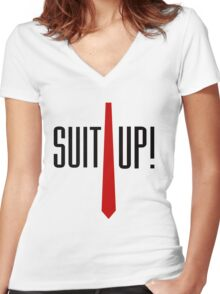 Suit Up Women's Fitted V-Neck T-Shirt