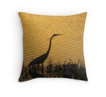 White crane Throw Pillow