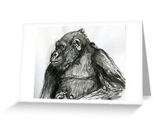 Primate Profile Greeting Card
