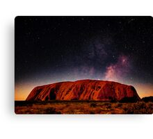 The Dreaming Rock - Night Canvas Print