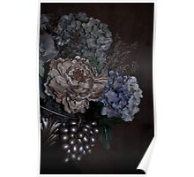 A Bouquet of Flowers On an Angle Poster