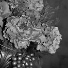 Elegant Bouquet Flower - Black & White by Sherry Hallemeier