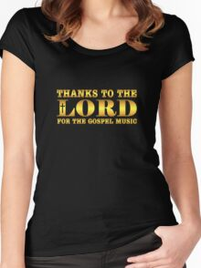 Golden Thanks To The Lord  Women's Fitted Scoop T-Shirt