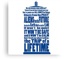 It's Gonna Be Fantastic Dr Who Canvas Print