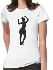 Retro Eighties Woman Womens Fitted T-Shirt