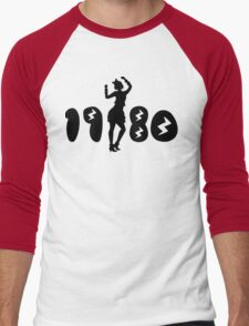 Retro Eighties Woman Men's Baseball ¾ T-Shirt