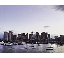 Boston Harbor at Twilight Photographic Print