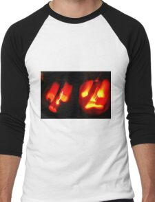 Thoroughly Haunted ~ Happy Hallowe'en Men's Baseball ¾ T-Shirt