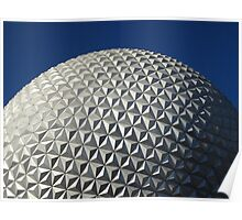 Epcot's Spaceship Earth Poster