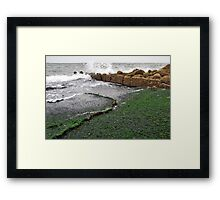 At the base of the Brouwersdam..... Framed Print