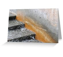 Water Stairs Greeting Card