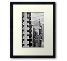 High Rise Geometrics in Black and White Framed Print