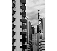 High Rise Geometrics in Black and White Photographic Print
