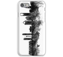 Riyadh skyline in black watercolour  iPhone Case/Skin