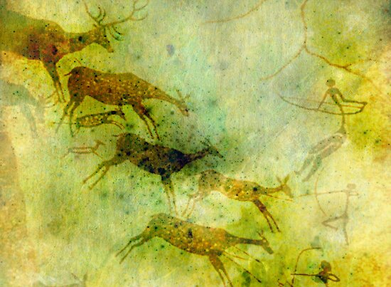 Neolithic Deer Hunter by Vanessa Barklay