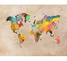 World map 1 Photographic Print