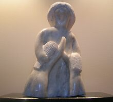 Mother's Love, carved in Angaston marble by Richard Kloester